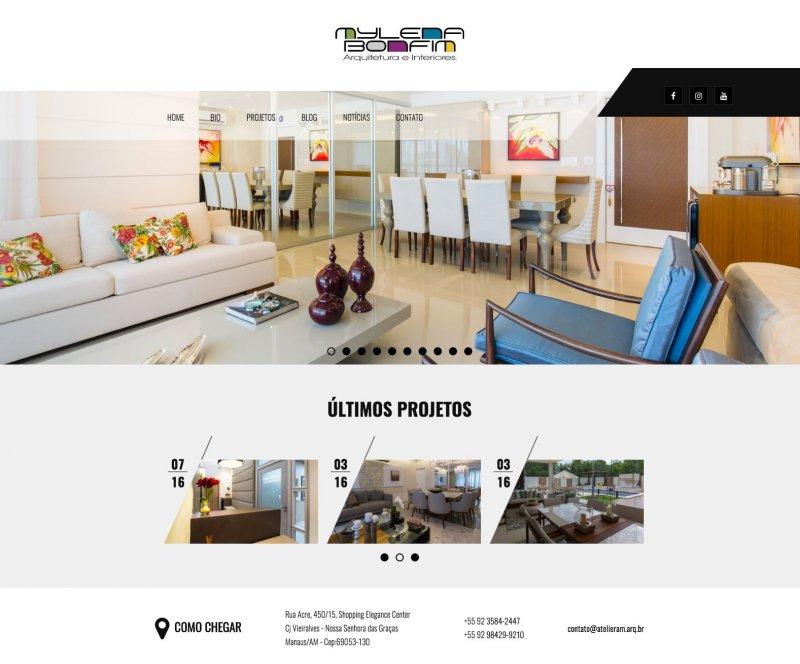 Site Atelier Am - Mylena Bonfim